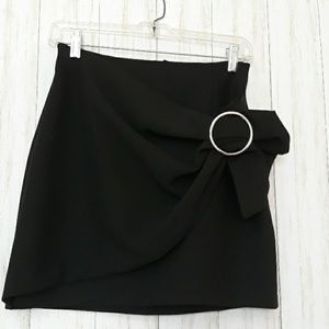 Zara black asymmetrical mini Skirt.  Size S